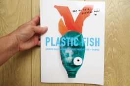 PLASTIC FISH BOOK! made by kids+artist hannah