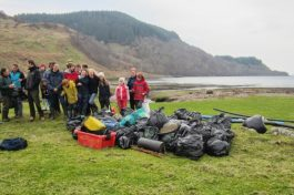 beachclean, scotland