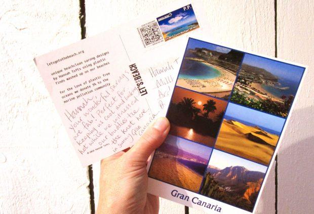i got a postcard!