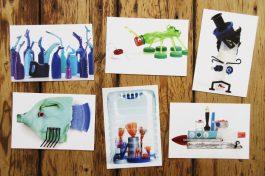 Beach Clean Postcards: Blue