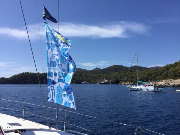 Waving your ocean! with Craignish Sailing club flag too